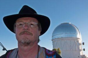 Tim Abbott with the Blanco telescope